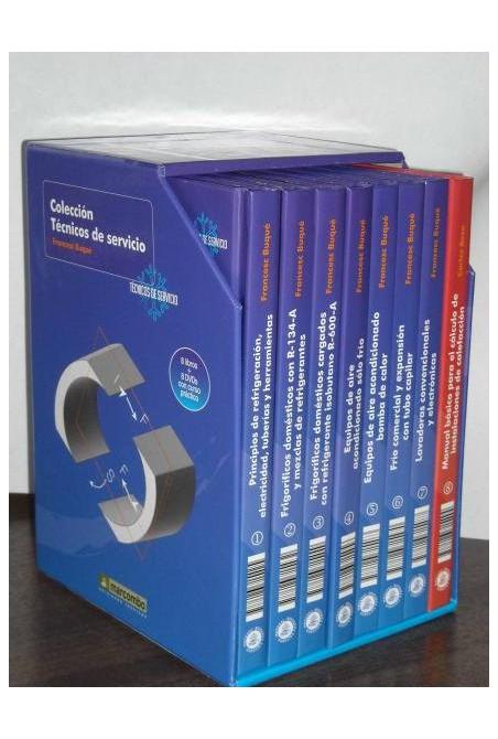 COLECCION COMPLETA TÉCNICOS DE SERVICIO (8 VOLÚMENES + 8 DVDS)