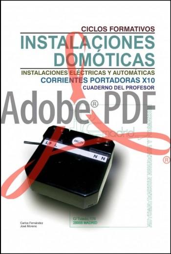 Instalaciones domóticas corrientes portadoras X-10 libro del profesor (Formato pdf)