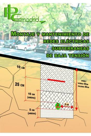 Montaje y mantenimiento de redes eléctricas subterraneas de baja tensión